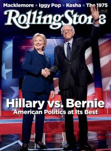 hillary vs bernie rolling stone