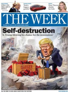 trump the week cover illustration