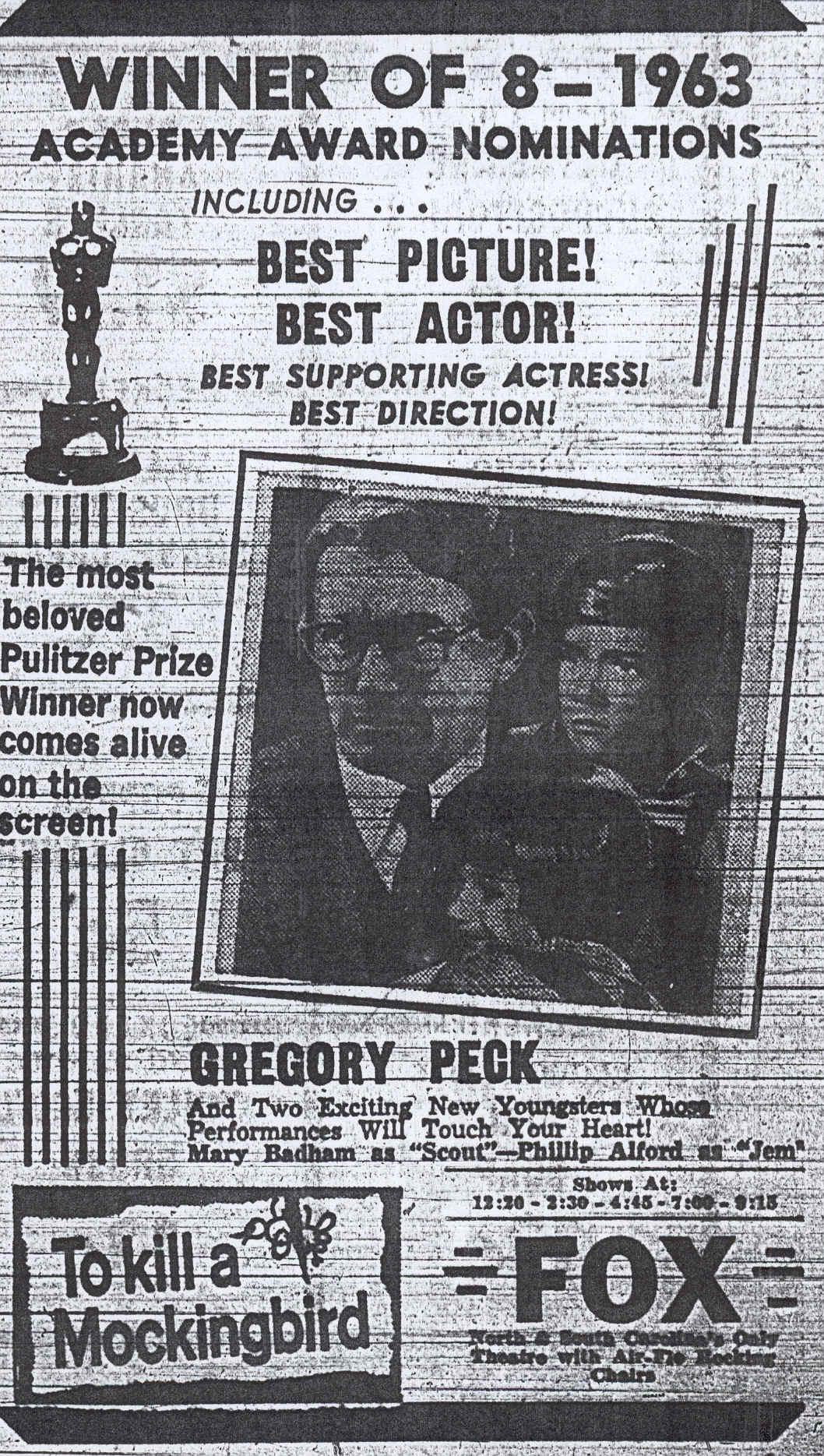 To Kill A Mockingbird Original Newspaper Ads Media Literacy Statead Mockingbird Original Ads